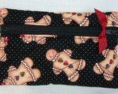 Quilted Grab N Go Clasp with Swivel Hook - Gingerbread Friends