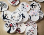 DIY CRAFT  - Make your own BUTTONS x30