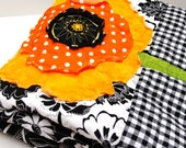 poppy quilt - baby / wall art quilt- SALE Black Friday-Cyber Monday 10% off with coupon code BFCM122011 ''Poppy Dreams''