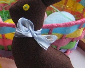 Wool Felt Chocolate Easter Rabbit, Easter bunny, Waldorf inspired Easter, Play food, wool felt food