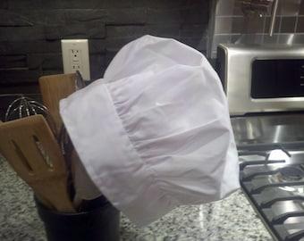 White Childs Chef Hat Children's Baking Hat