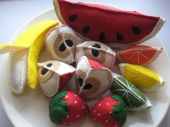 Felt Fruit Play Food Set