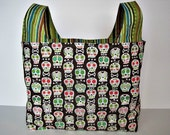25%  OFF Spring Clearance Sale  Eco-Friendly Market Tote Bag in Bonehead by MoSewsIt