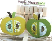 Apple Art Display Clips - eco-friendly - by Maple Shade Kids