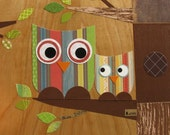 Little Owl with Mom Collage - eco-friendly - by Maple Shade Kids