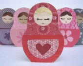 Matryoshka Love Doll Wooden Art - eco-freindly by Maple Shade Kids