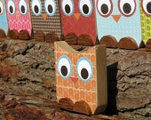 Owl Wooden Art - Tangerine - Eco-Friendly by Maple Shade Kids