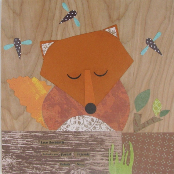 Large Collage - Fox - eco-friendly - by Maple Shade Kids