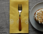 colander napkin pair - buttercup/cream