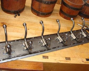 6 Hook Forged Coat Rack