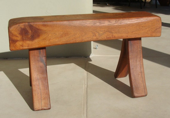 Mesquite Wood Bench with Bent Legs