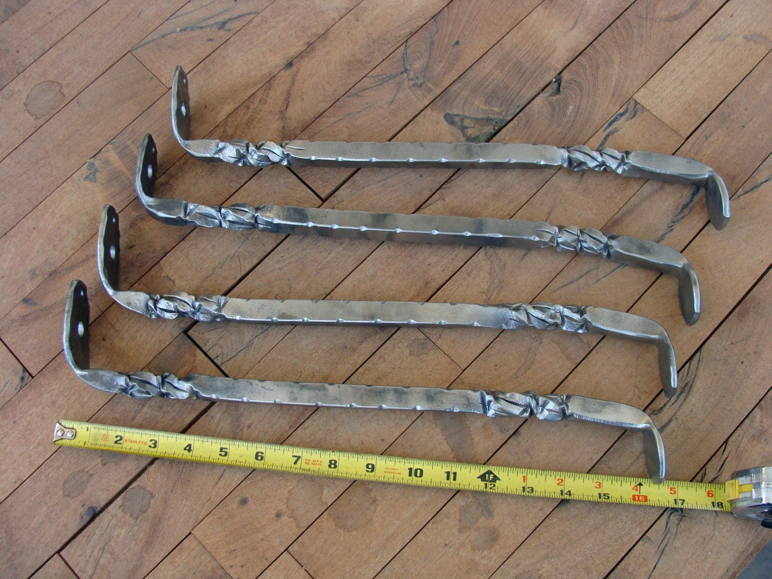 Hand forged wrought iron leg set for Rod iron legs