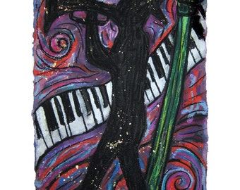 Jazz Man-  PRINT Matted to fit 11x14 frame