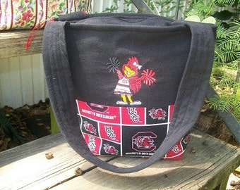 "Embroidered ""Carolina Gamecock Cheer"" Tote Bag/purse"