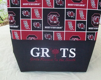 Carolina Gamecock GRITS Girls Raised In The South purse tote bag