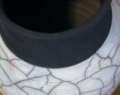 Pale Blue Raku Vase