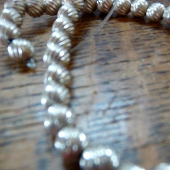 BALLS SWIRLS of Sterling Silver BEADS 6 mm