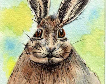 ACEO Print  Mr. Rabbit