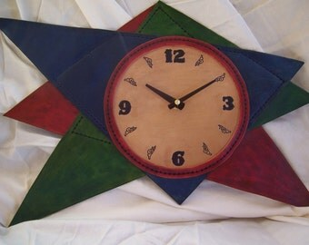 Abstract Art Leather Clock