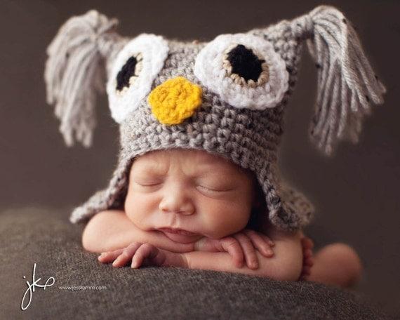 PDF PATTERN CROCHET Tweedy Owl Hat