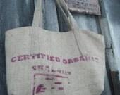 The Eric     Coffee Beansack Burlap Upcycled Market Bag