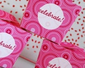 Pink Polka Dot Birthday PRINTABLE Party Collection - You Customize EDITABLE TEXT >> Instant Download << Paper and Cake