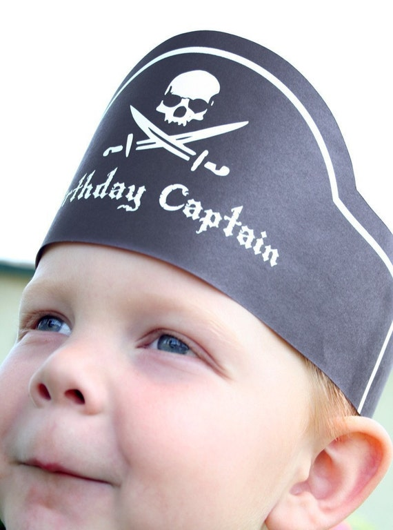 Pirate Birthday Party - Invitation, Pennant Banner, Crown and More - Printable Download PDF