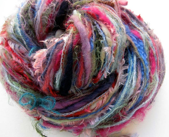 SALE 10% OFF- Hummingbird and Orchid handmade component yarn