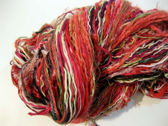 CLEARANCE 40% OFF, handmade component yarn, Florida in Bloom