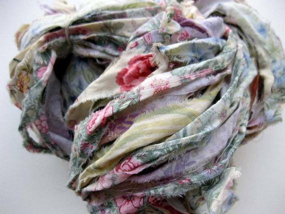 fabric ribbon yarn, Almond Blossoms