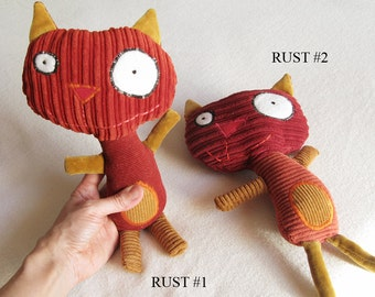 Recycled Plush Cat - The Grimmie Cat