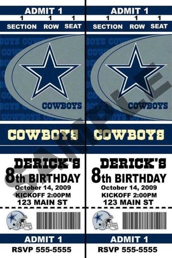 Items similar to Custom Dallas Cowboys Football Birthday ...
