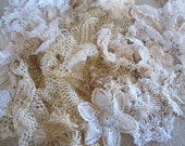 Over a pound of Vintage and Antique tat and crochet doilies various sizes shapes and conditions