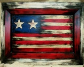 SPECIAL Listing for Becky Ball, ONLY. Americana Art...Vintage Style Painting, Flag Inspired, Primitive, Patriotic, Country style
