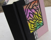 Small Journal with Pink and Black Cover