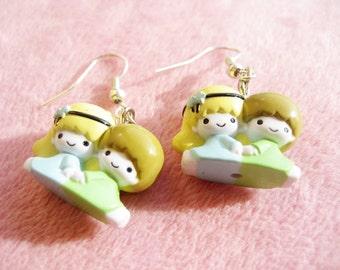 Little Twin Star Earrings. Sanrio. Harajuku. Japan. Rare. Fruits.