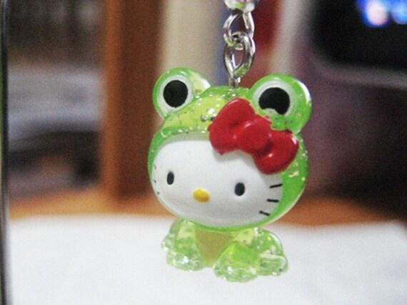 Frog Hello Kitty Earrings. Kawaii. Adorable. Sanrio