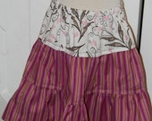 Girls Purple and Pink Tiered Skirt