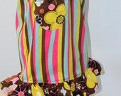 Girls Striped Pocket Skirt