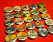 Pokemon - Pokeball Pins set of 6