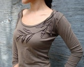 Rustic Organic Liana Long Sleeve Top- limited edition (now only in black, moss green, and white)- organic clothing