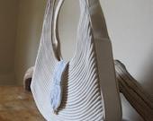 Modern Rustic Raw Cotton Vena Handbag