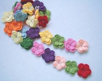 Multi-colour pear flowers wool scarf-simple and fashion