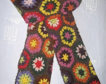 2013 new arrival,beautiful rainbow flowers mohair scarf-soft and warm fashion