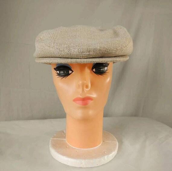 Vintage newsboy hat 1980s Levi Strauss Churchill LTD
