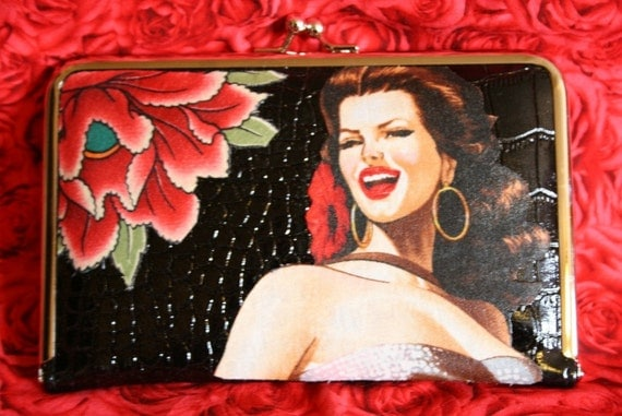 Mexican Pin up Wallet / Clutch