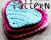 PDF Crochet Pattern - Heart Applique