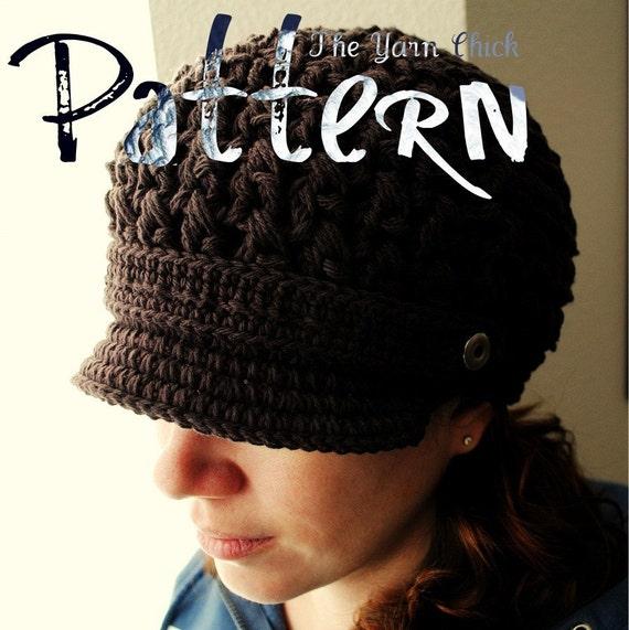 PDF Crochet Pattern - Breezy Brimmed Beanie - beanie hat cap crochet diy brim