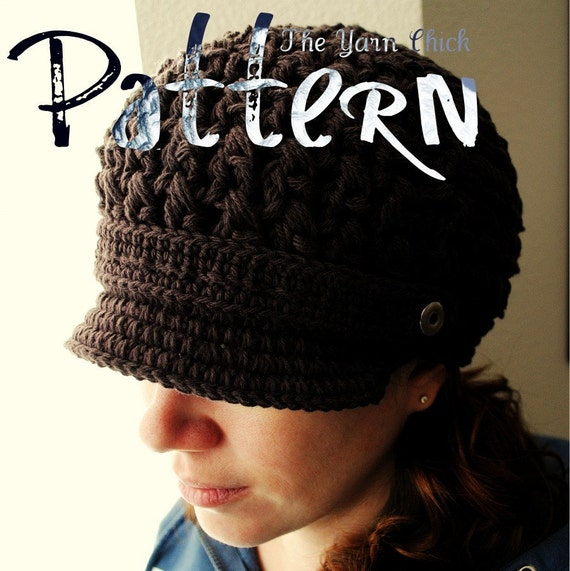 PDF Crochet Pattern - Breezy Brimmed Beanie