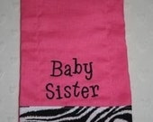 Hot Pink Personalized Burp Cloth